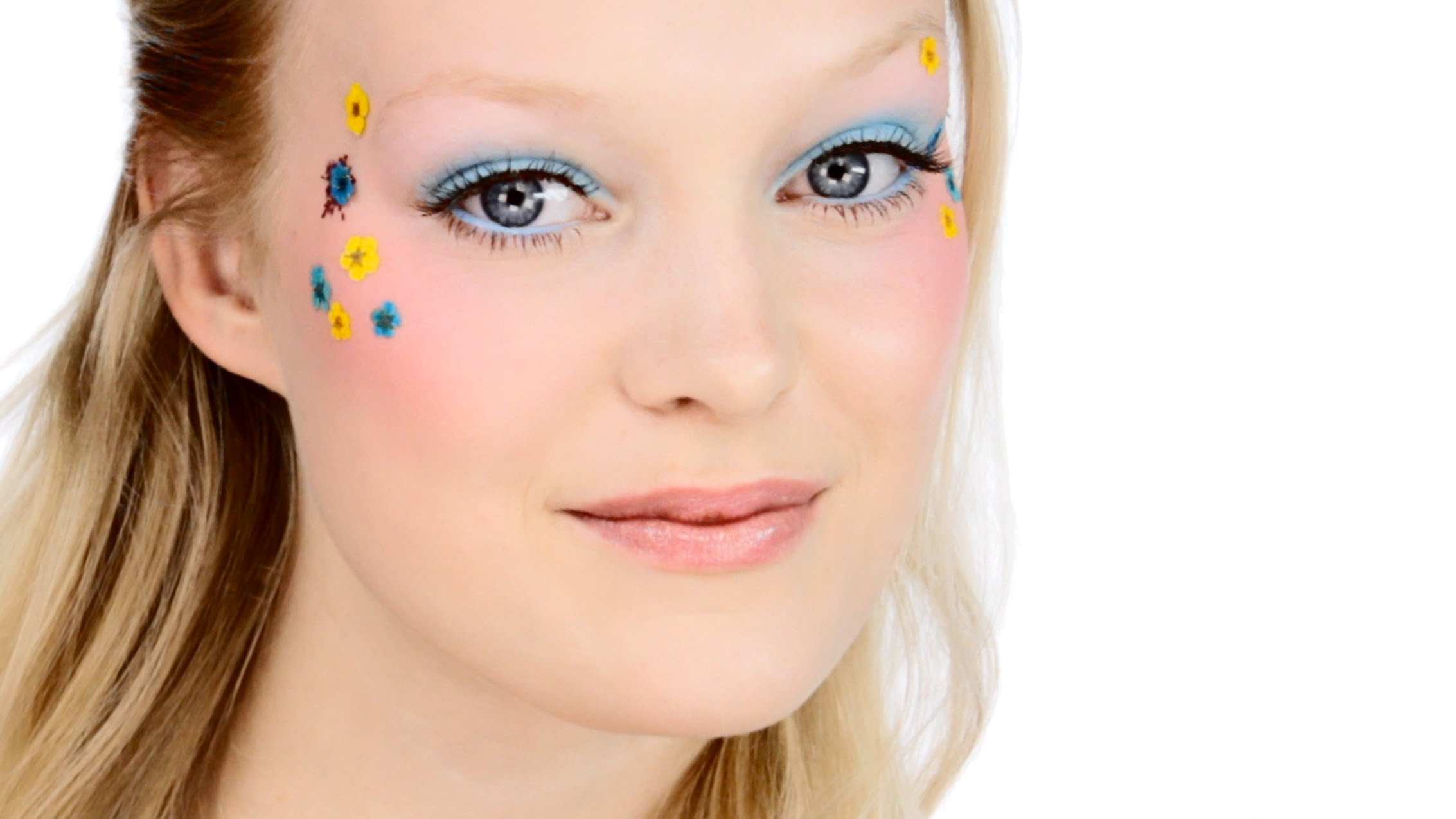 Pretty 'Flower Child' Makeup Look