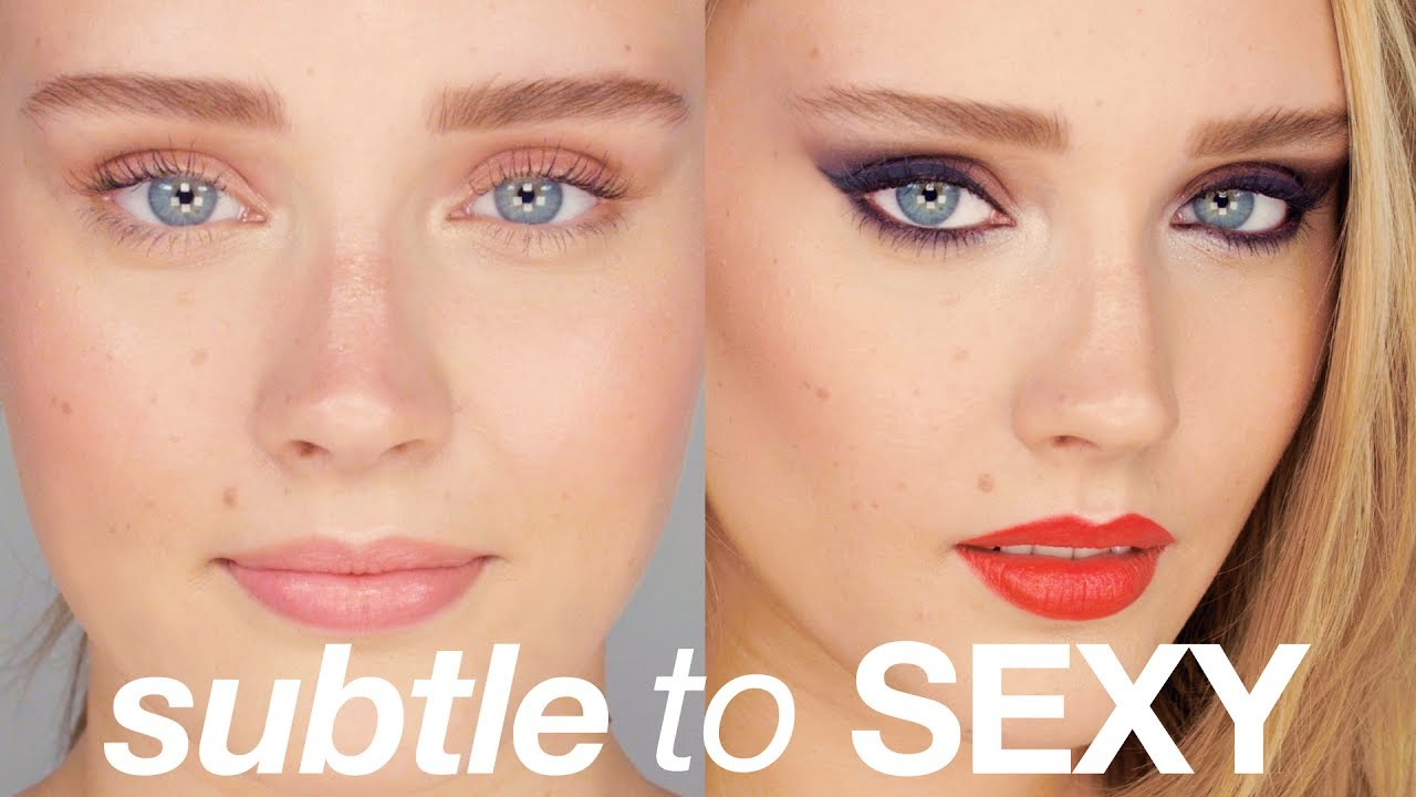 SUBTLE TO SEXY – One Girl, Two Makeup Looks