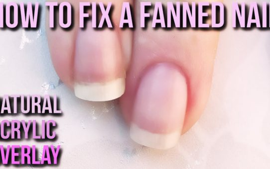 How to Correct a Fanned Nail with Natural Acrylic Overlay – Naio Nails Tutorial manicure transparent